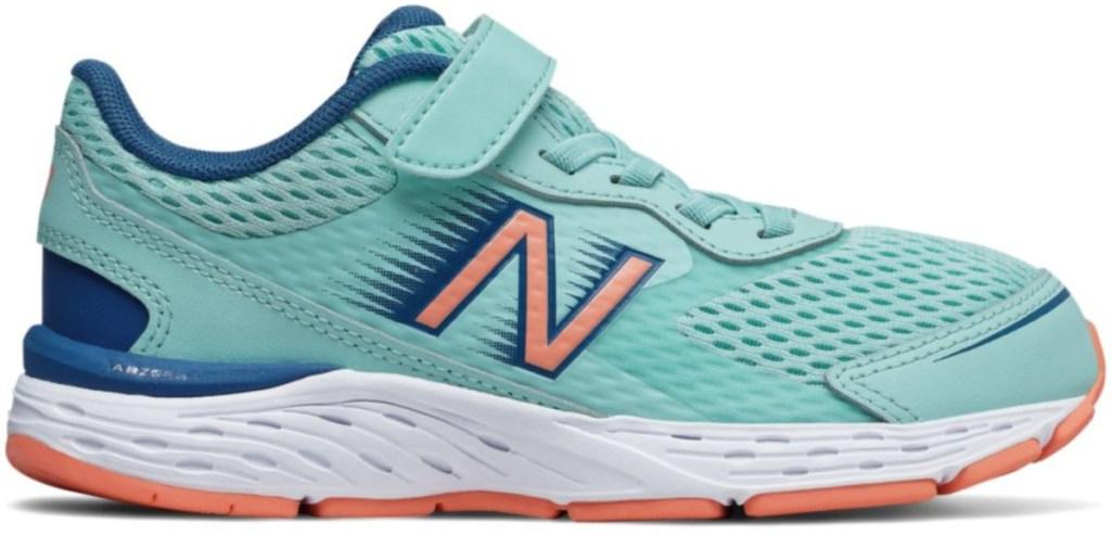 light aqua kids new balance shoes