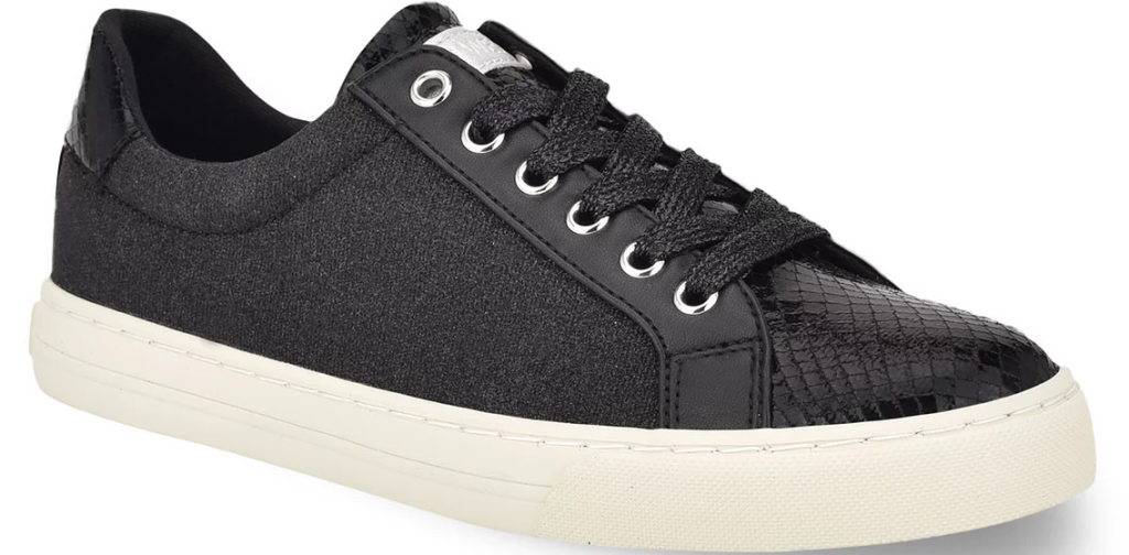 tan and black sneaker