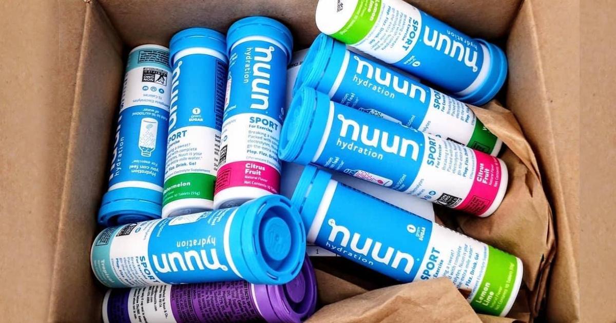Nuun Sports Tabs in a shipping box