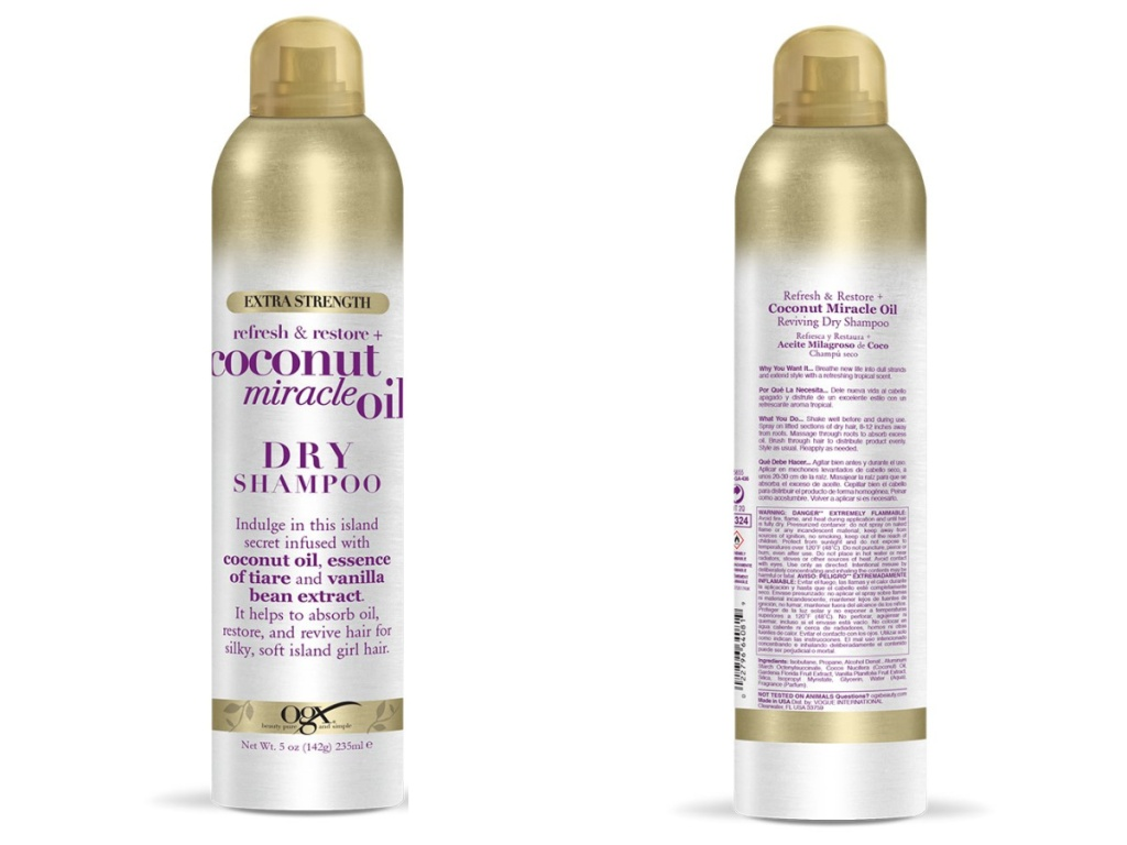 OGX Extra Strength Refresh Restore + Dry Shampoo front and back