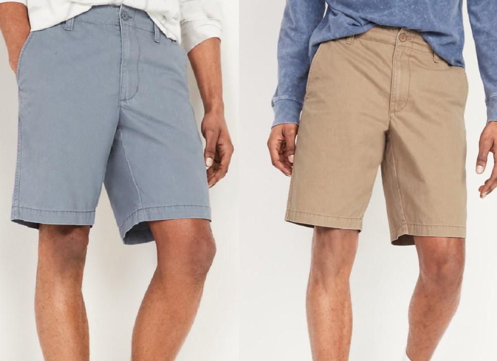 2 men wearing old navy shorts