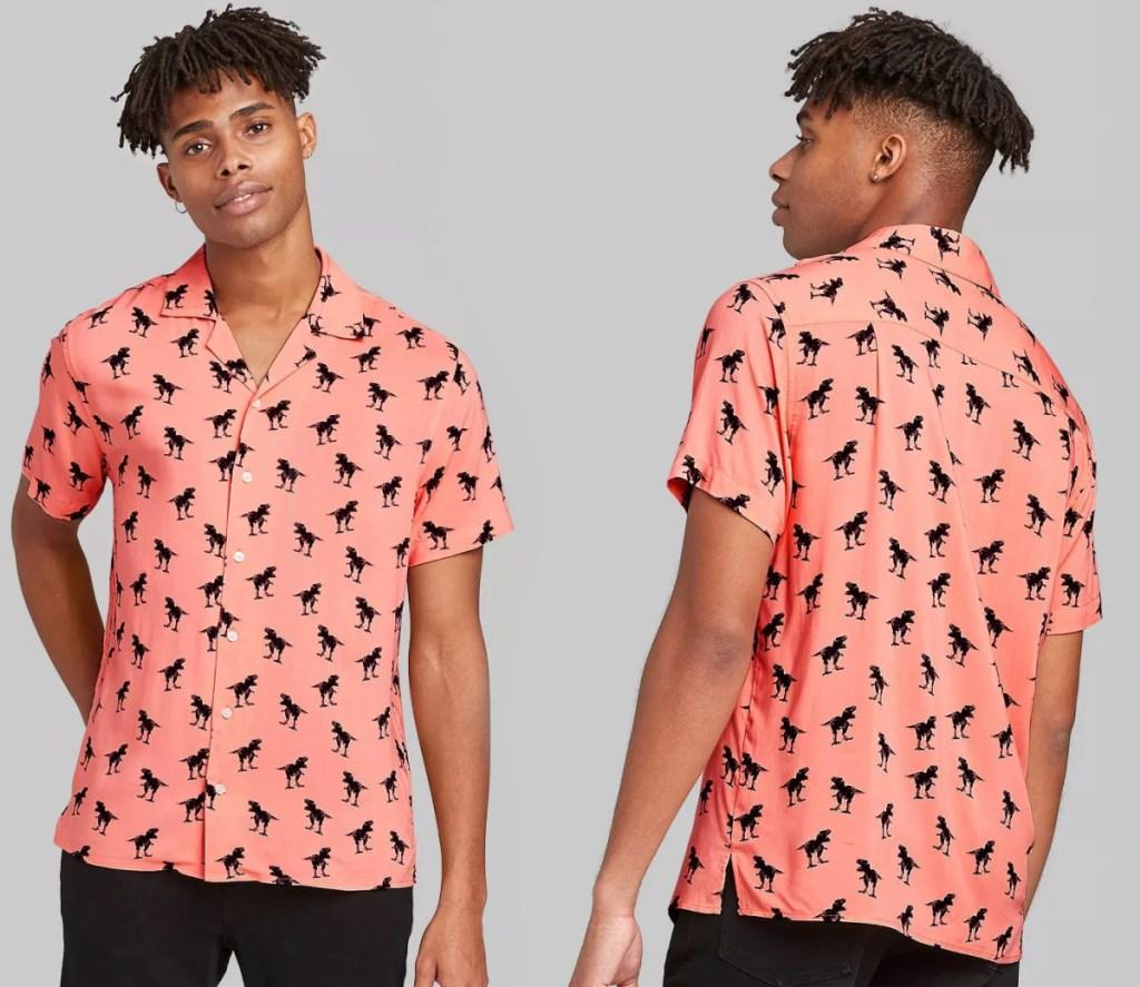 Two dinosaur themed shirts