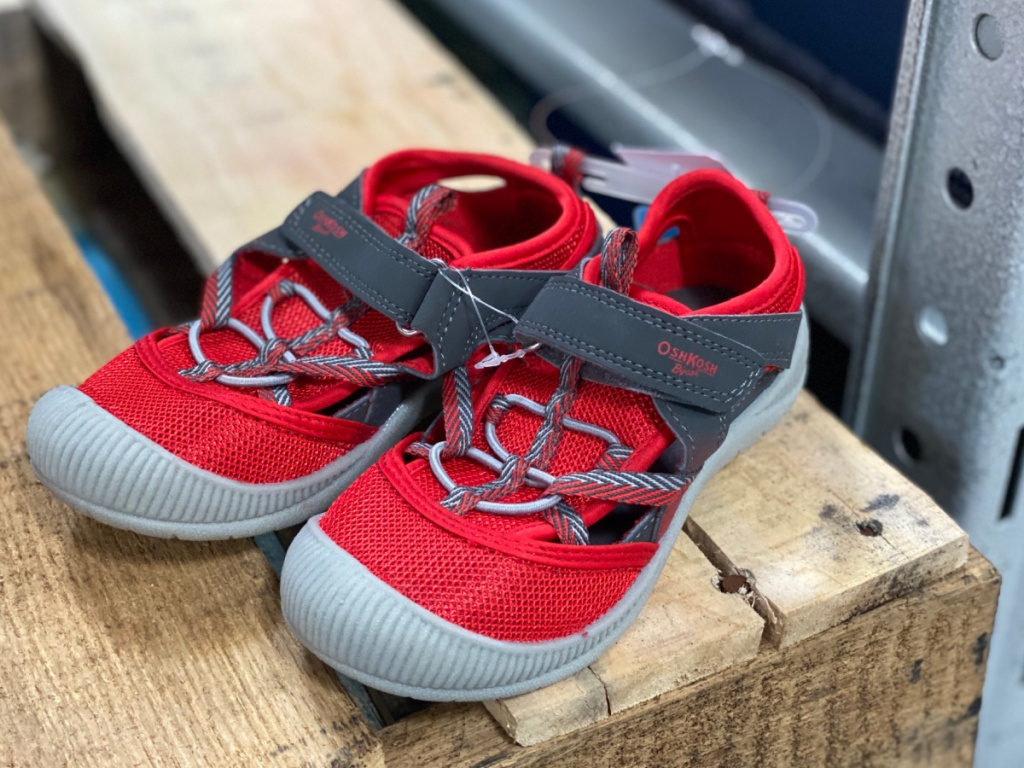 red boys sandals