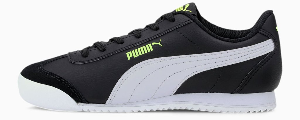 black and white leather puma sneaker