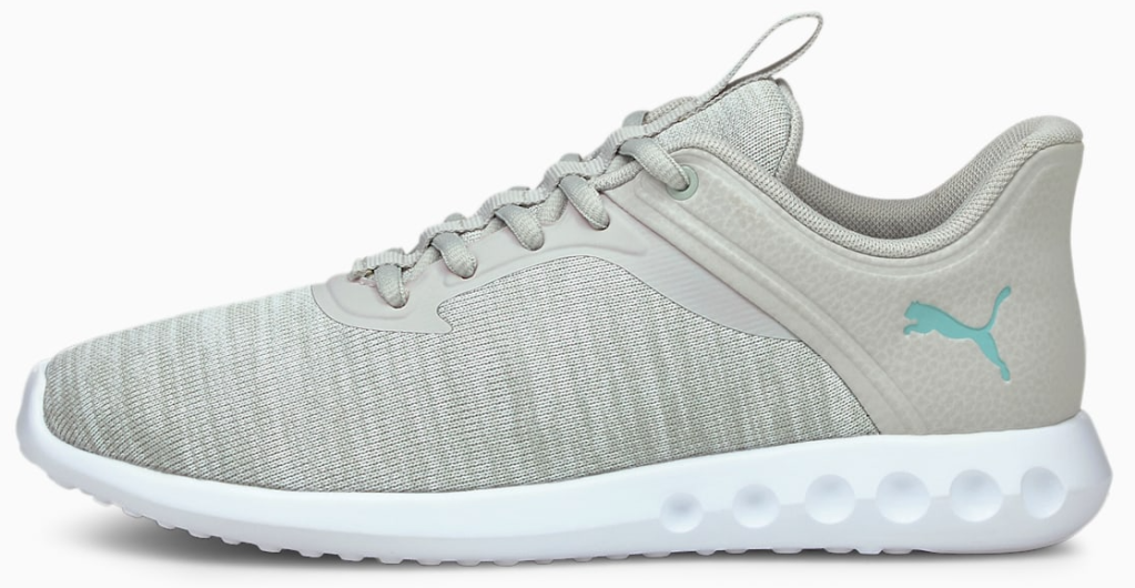grey and white sneaker