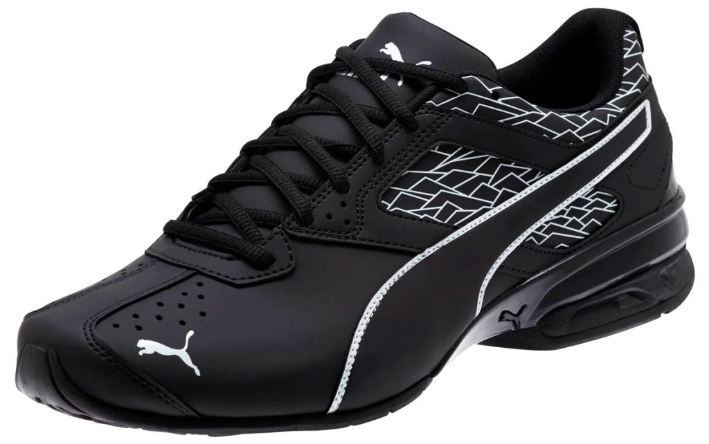 men's black leather puma shoe