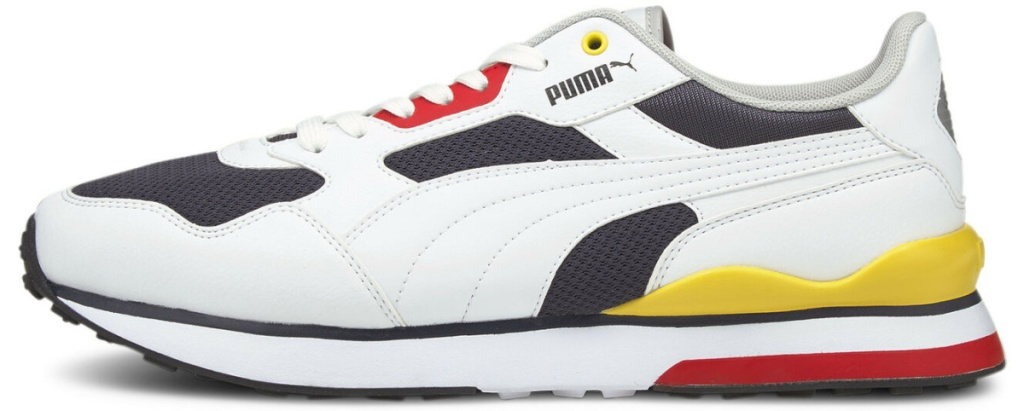PUMA shoes in white yellow black and red