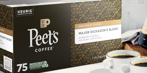 Peet's Coffee K-Cups 75-Count Only $27.53 Shipped on Amazon | Just 37¢ Per Pod