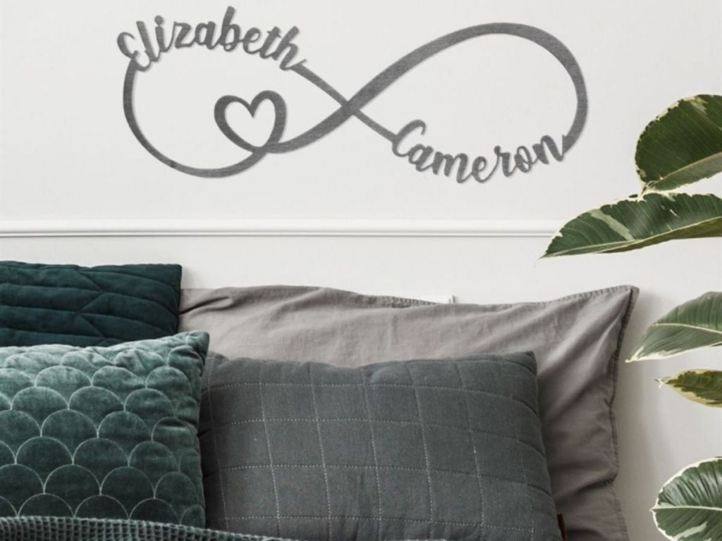 Personalized Infinity Metal Sign