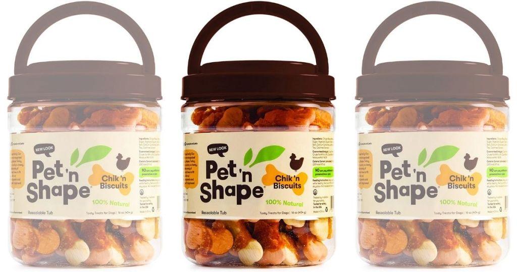 3 Pet 'n Shape Chik 'n Biscuits Dog Treats