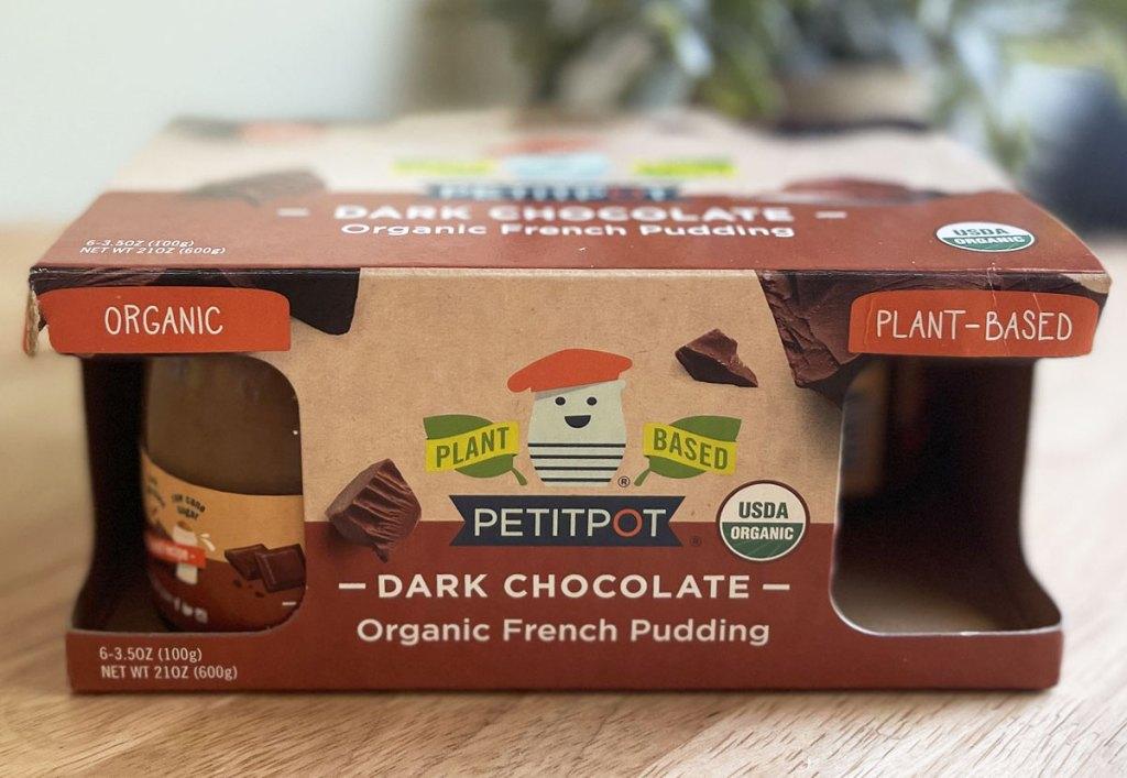 box of petitpot chocolate pudding cups
