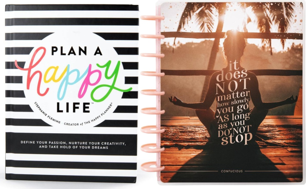 Plan A Happy Life Book by Stephanie Fleming and Recovery Progress Classic Guided Journal