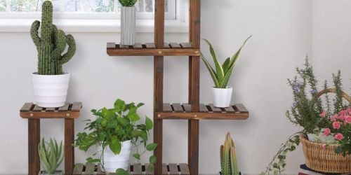Tiered Wooden Plant Stand Just $35.99 Shipped on Amazon | Easy to Assemble