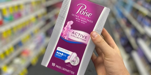 Poise Liners or Pads Only 99¢ After CVS Rewards (Regularly $6)