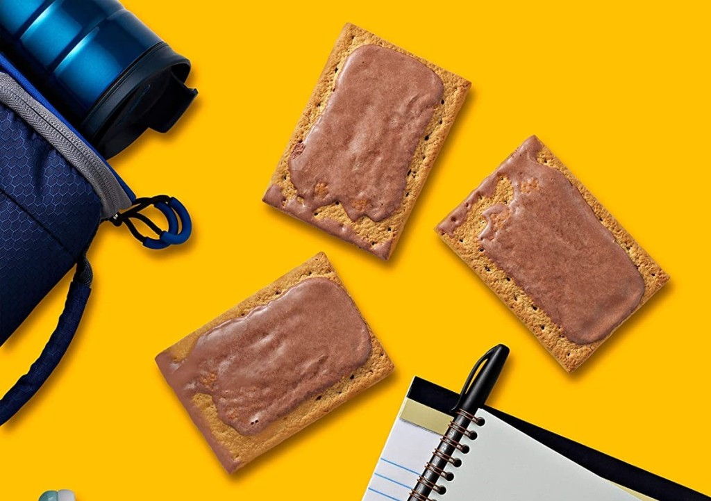 Pop-Tarts S'Mores next to a notebook