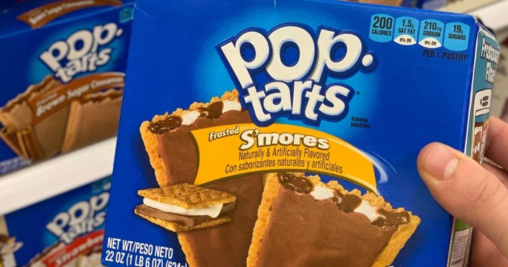 hand holding a box of Pop-Tarts S'mores
