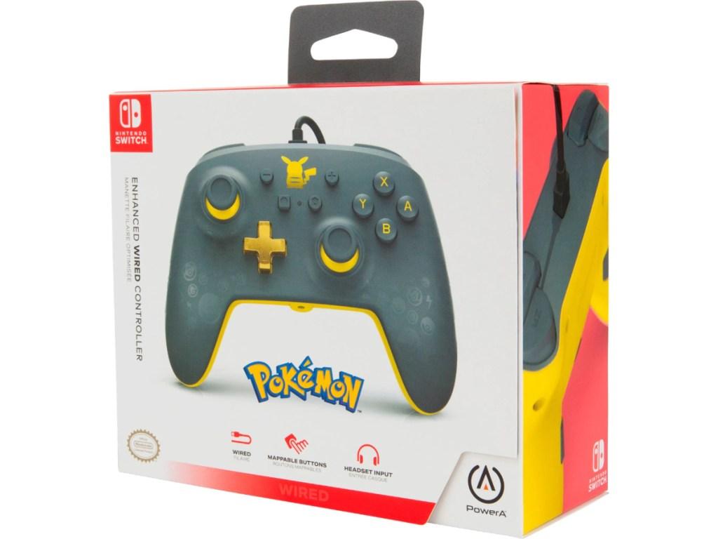 PowerA Pokémon Pikachu Grey Controller in box