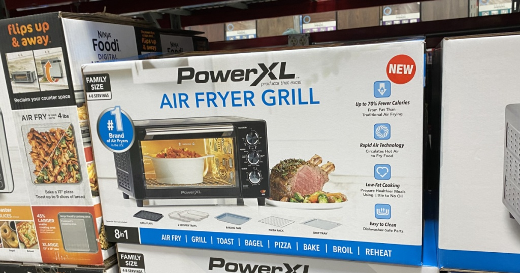 PowerXL Air Fryer Grill on pallet in Sam's Club