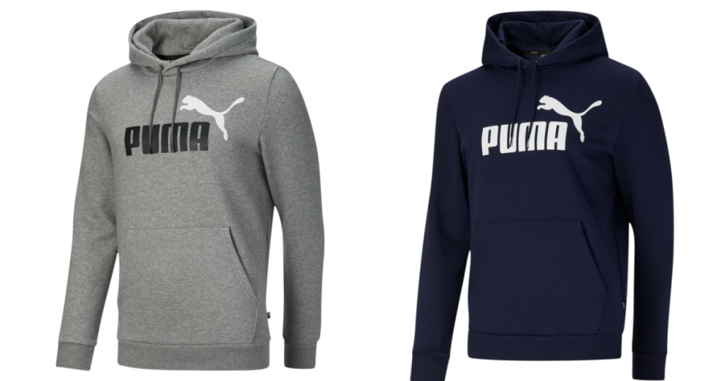 Puma Men's Essential Hoodies in gray and blue
