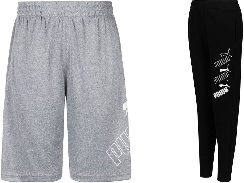 Puma boys shorts and jogger pants