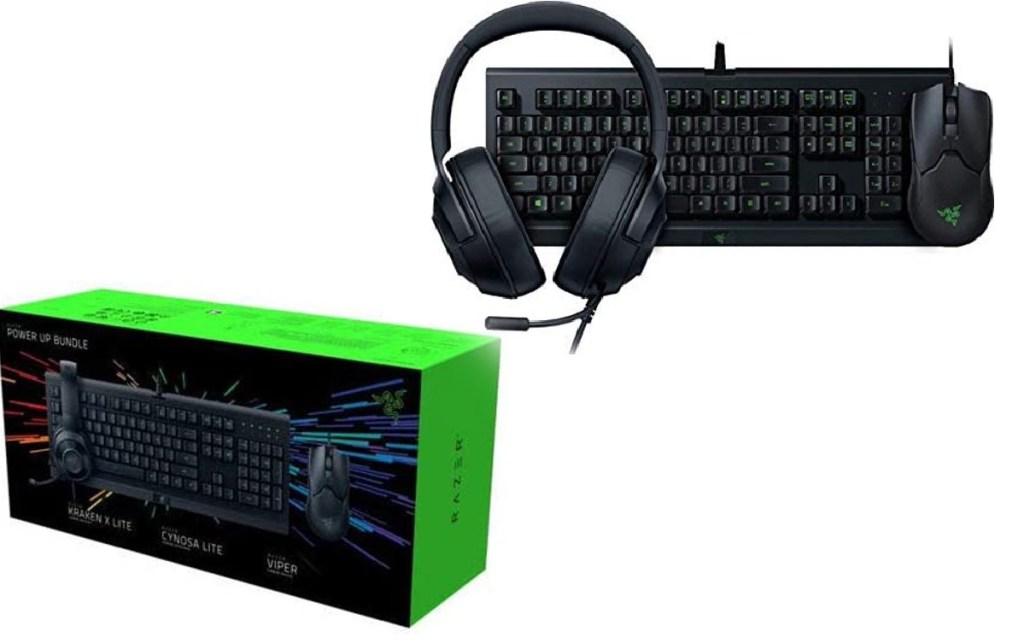 Razer Cynosa Lite Gaming Keyboard + Viper Ambidextrous Wired Gaming Mouse + Kraken X Lite Gaming Headset
