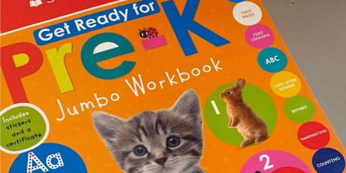Scholastic Get Ready for Pre-K Jumbo Workbook Only $6.78 on Amazon (Regularly $13)