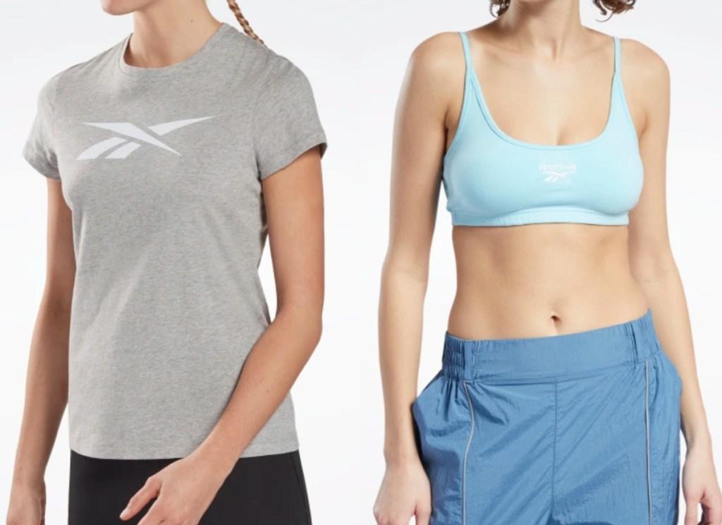 women wearing reebok tops