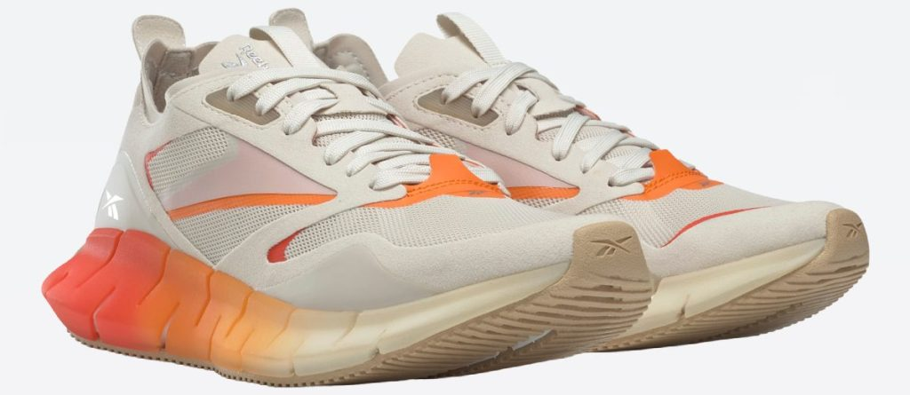 women's cream and orange sneakers