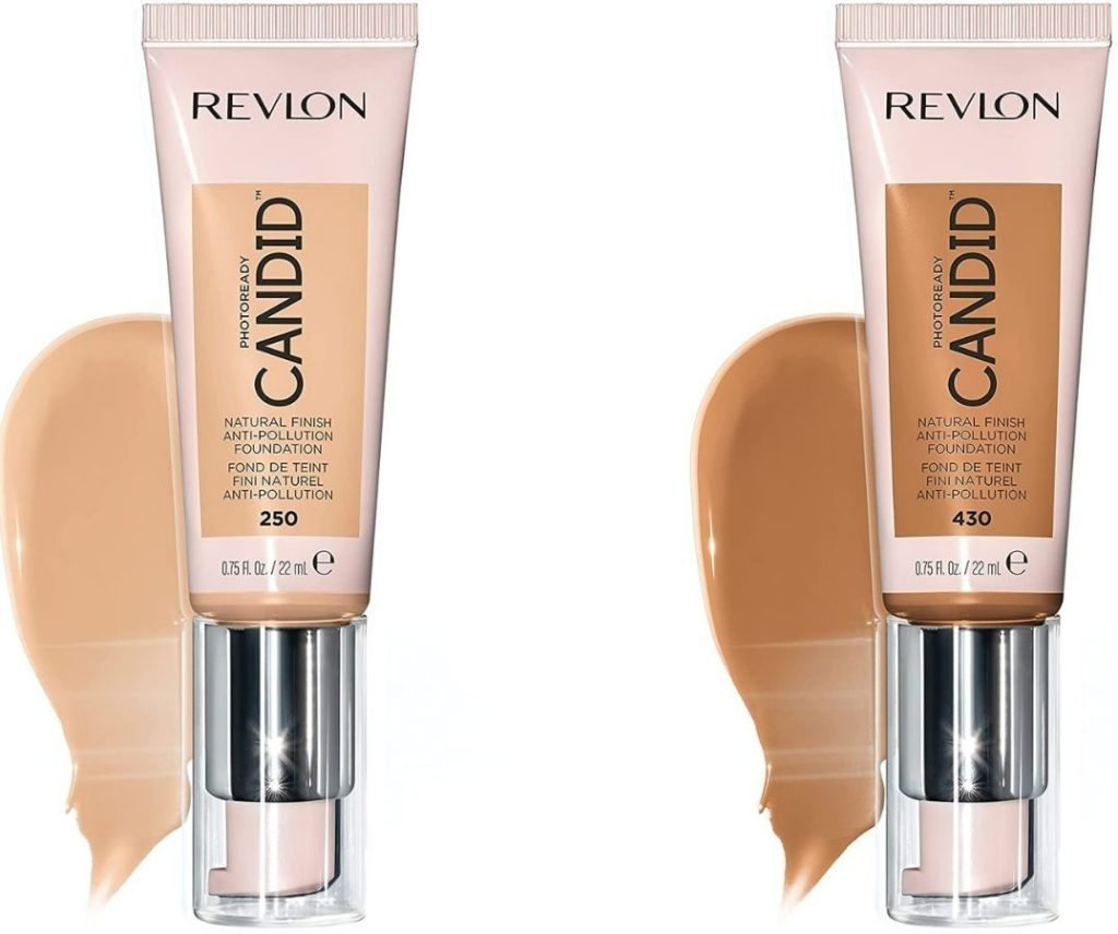 Two Revlon Candid Foundations