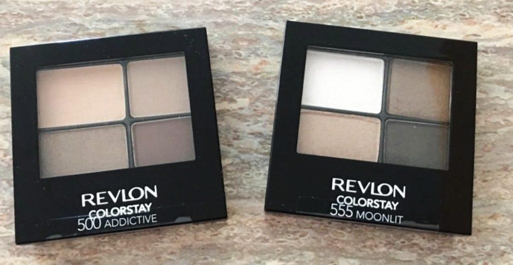 two neutral eyeshadow quads