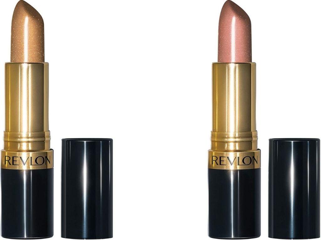 two revlon lipsticks