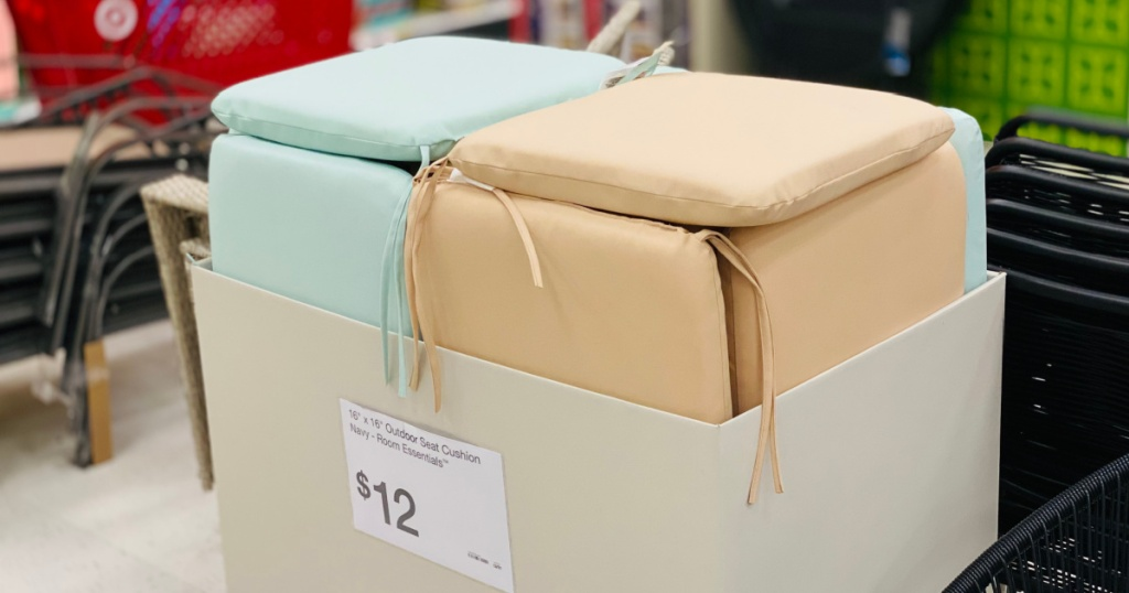 outdoor cushions in box