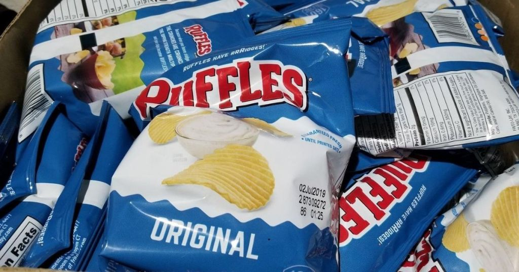 Ruffles Chips in a box