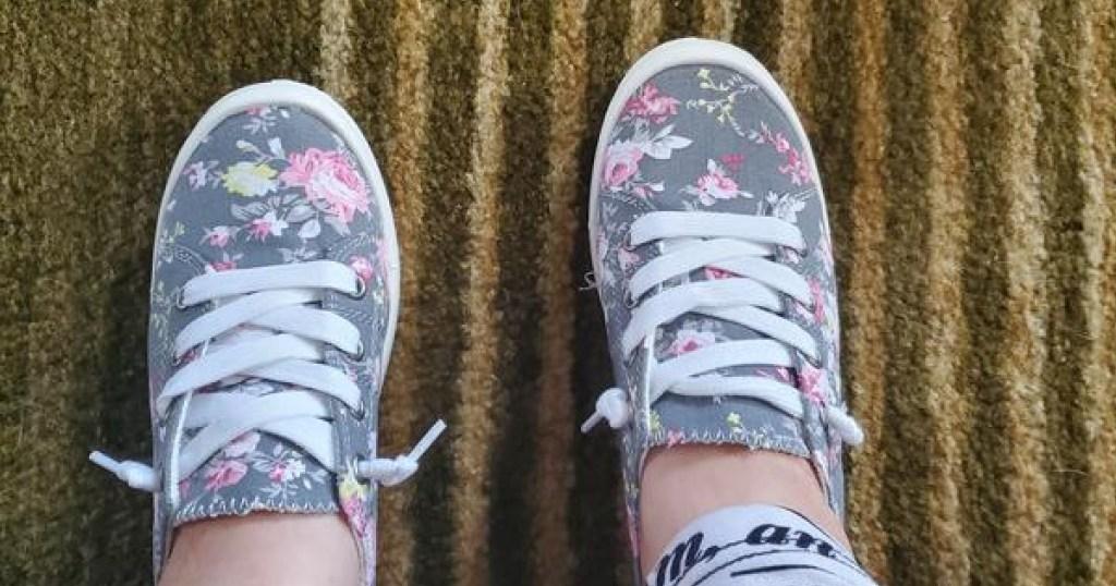 women's floral print sneakers