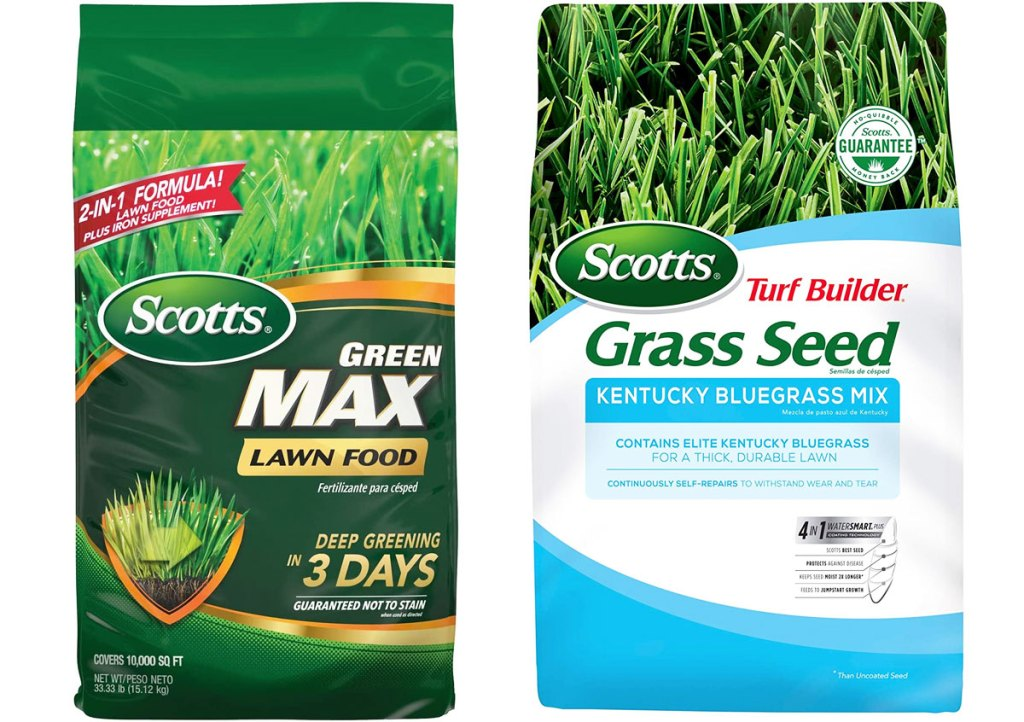 two bags of scotts grass seed