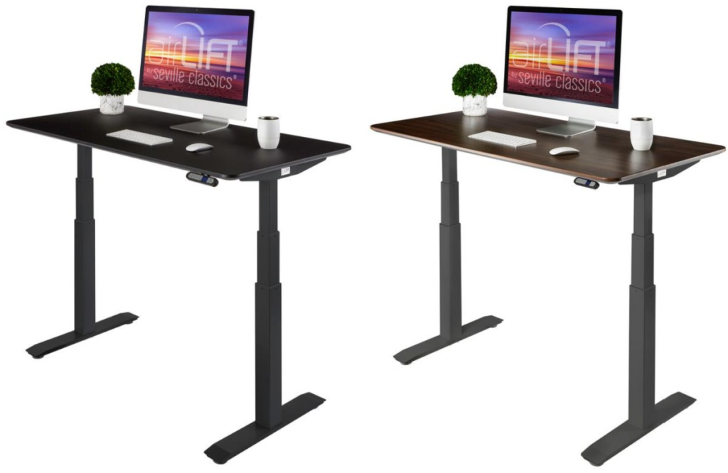 2 adjustable height desks