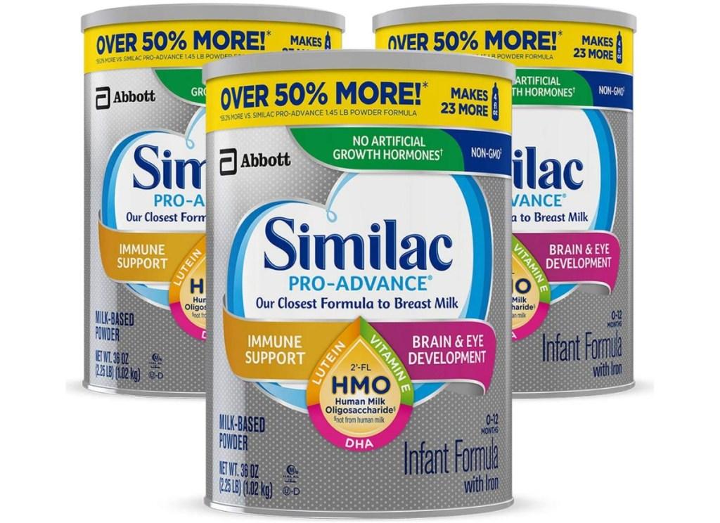 similac pro advanced formula 3 packs