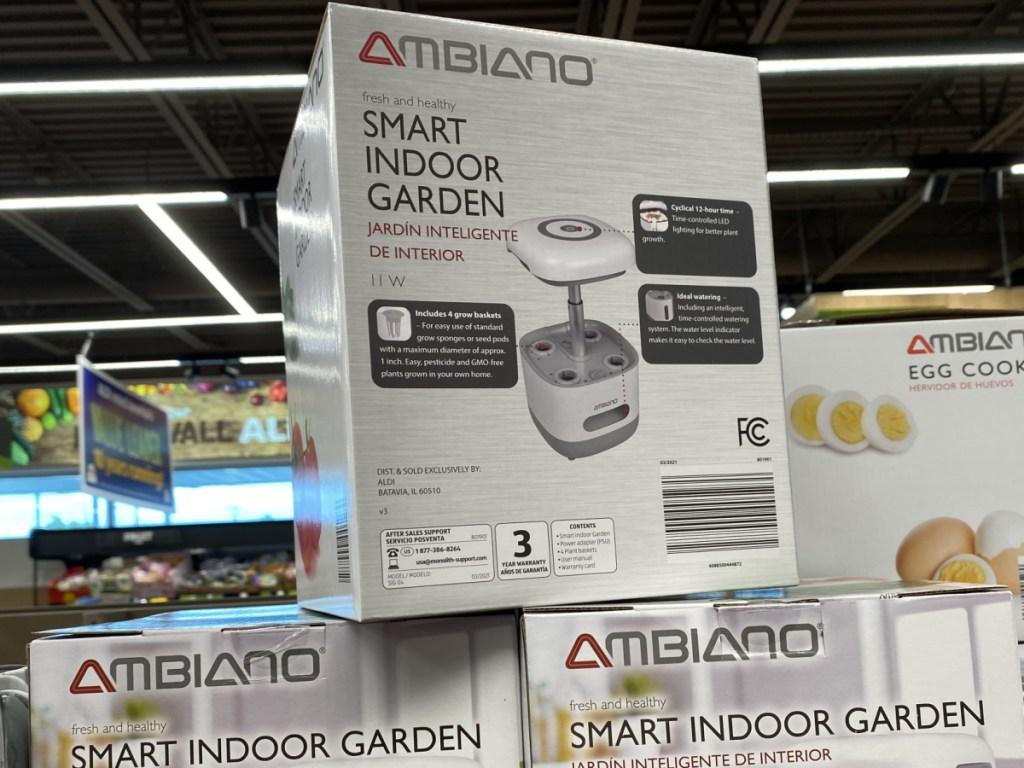 Smart indoor garden on display in store