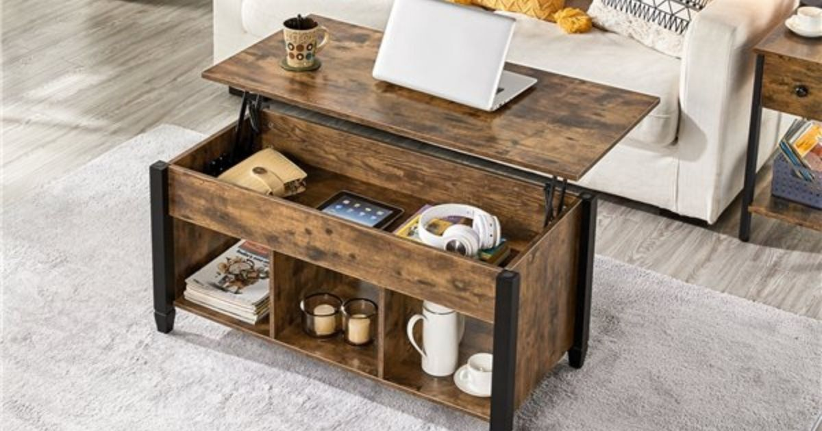 Smilemart Lift Top Coffee Table