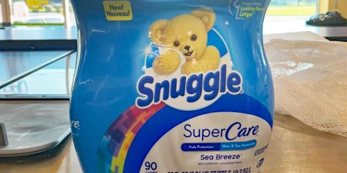 Snuggle SuperCare Fabric Softener 95oz Bottle Only $5.49 on Amazon