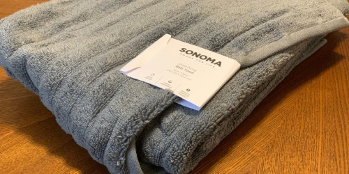 SONOMA Quick Dri Ribbed Bath Towels from $4.89 on Kohls.com (Regularly $14) | Great Reviews