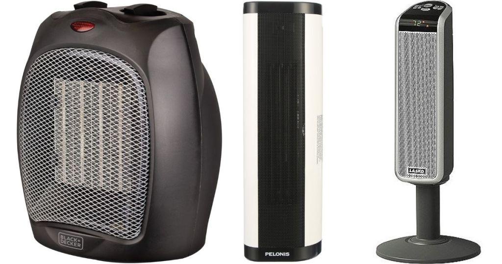 three space heaters