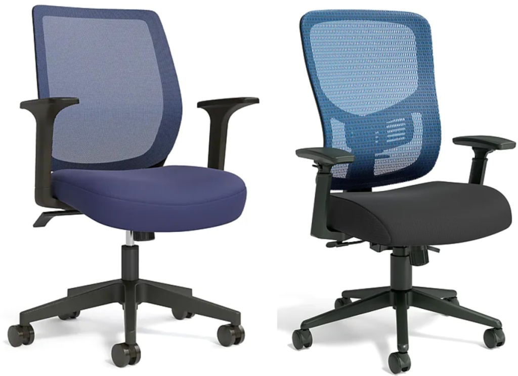 2 staples office chairs