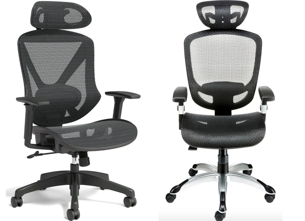 2 black office chairs at staples