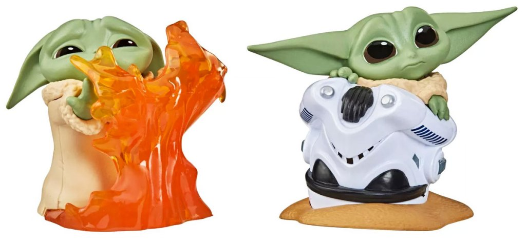 two Star Wars The Child figurines