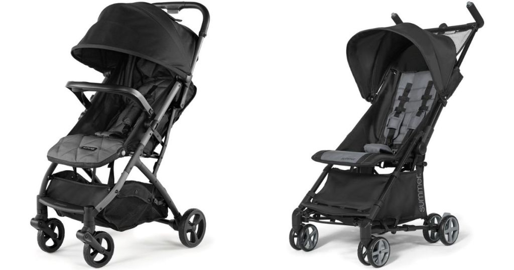 two strollers