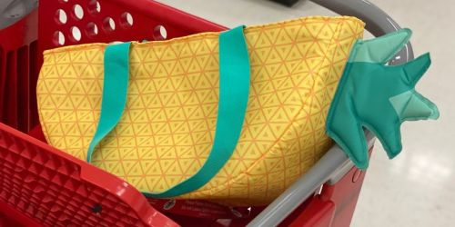 Keep Drinks Cold w/ a Sun Squad Pineapple Cooler Bag | Just $10 at Target