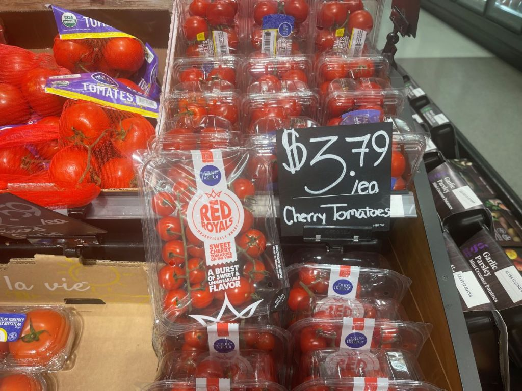 cherry tomatoes display at Target