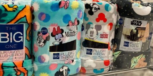 The Big One Supersoft Throw Blankets Only $8.49 at Kohl's (Regularly $30) | Includes Disney Prints