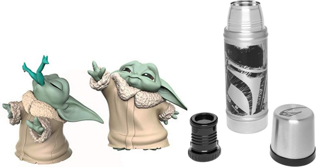 The Child Figures and Stanley Classic Vacuum Insulated Wide Mouth Stainless Steel Thermos